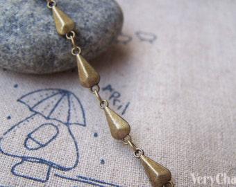 3.3 ft (1m) Antique Bronze Brass Rhombus Drop Chain A1076