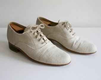 Linen Oxford Shoes 9