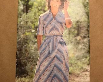 Vintage 1980s Sewing Pattern -See Sew by Butterick - Dress and Belt