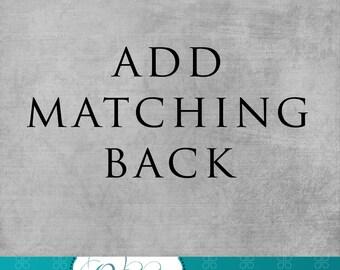 Add Matching Back