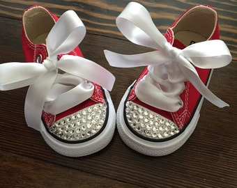 Red Bling Converse