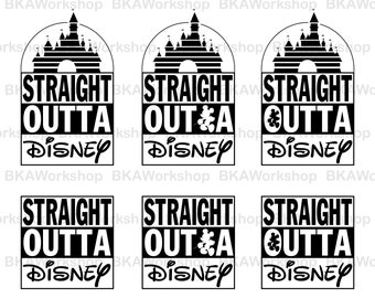 Disney castle svg - Straight Outta Disney castle digital clipart for Design or more, files download svg, png, dxf