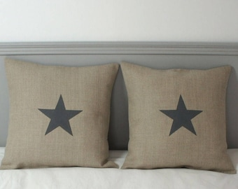 Cushion cover 40 x 40 cm - cushion star - star cushion