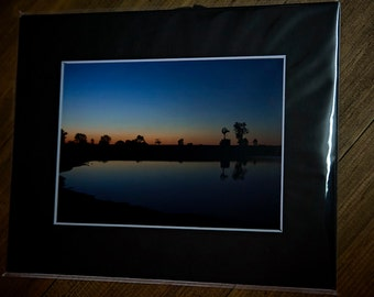 5x7 matted print, sunuset, fine art print, country sunset