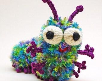 Cuterpillar Amigurumi Caterpillar Plush Toy Knitting Pattern PDF Digital Download