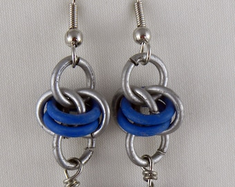 Orbit Blue Chainmaile Earring
