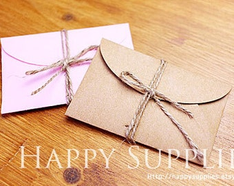 6×9cm Vintage Kraft Paper Envelopes DIY Letter Envelopes (Bulk Order Available)
