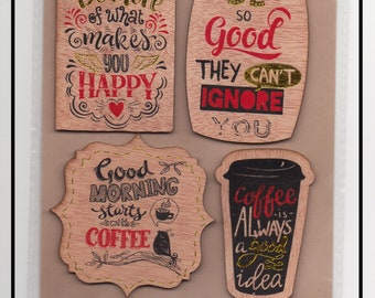 Scrapbooking * Coffee * in wood posts Moments trigger Happy stickers Stickers