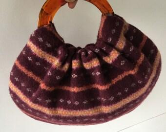 Christmas Ugly Sweater Purse - Handmade Recycled Hobo Handbag - Ready to Ship for Christmas