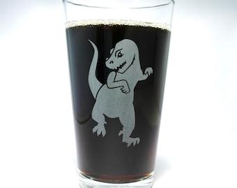 Tyrannosaurus Rex Dinosaur pint glass