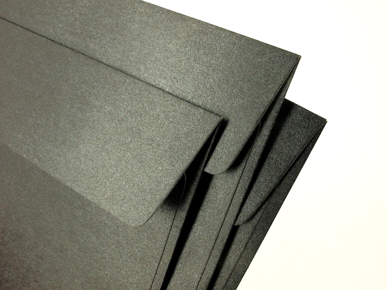 A7 5x7 Metallic Black Envelopes Perfect for