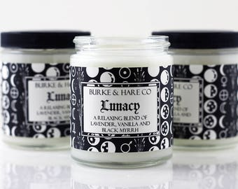 Scented Candle - Lavender and Vanilla - Moon - Lunacy