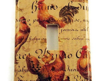 Switchplate  Wall Decor Single Light Switch Cover  in  Chanticleer  (185S)