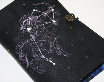 Sagitarius  Embroidered Book Cover