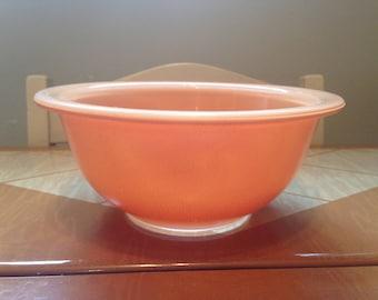 Pyrex 322 Peach Autumn Rainbow Clear Bottom Mixing Bowl - 1 Liter