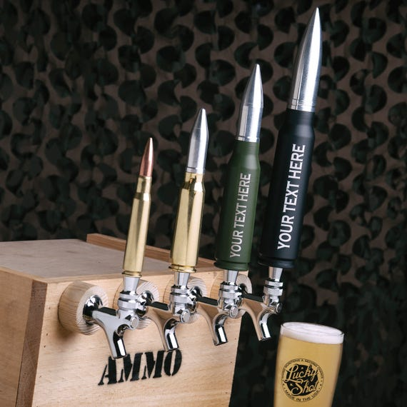 Personalized Bullet Beer Taps 30mm A 10 Warthog 20m Vulcan
