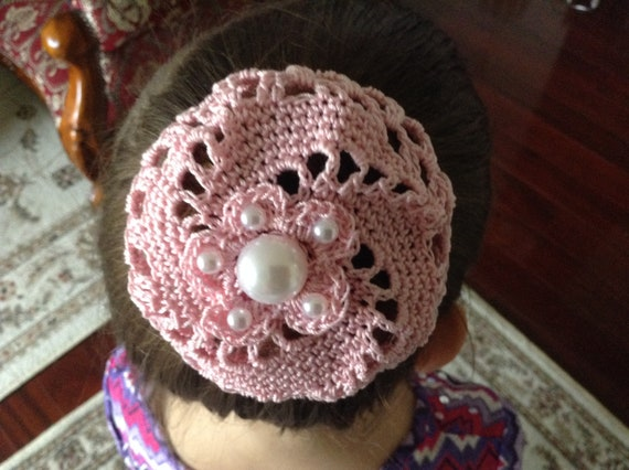 Crochet Hair Bun With Pearls Medium Crochet Bun Cover Bun