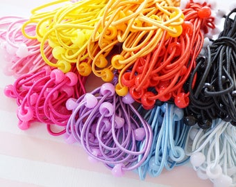 18 pcs Pony Tail Holders with Cabochon Base 9 colors  AS072