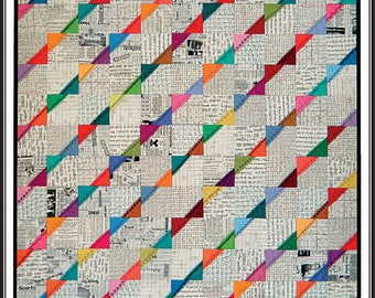 It's five to ten quilt pattern by Far Flung quilts