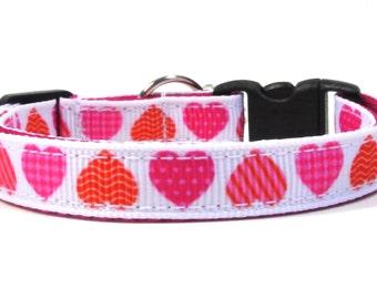 Geo-Print Valentine's Hearts Breakaway Cat Collar