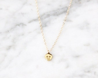 Tiny Skull Necklace - 1037