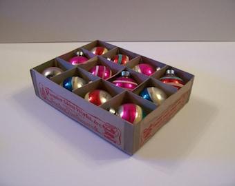 Vintage Box of 12 Christmas Ornaments