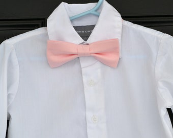 Solid Light Peony Blush Pink Bowtie - Baby / Toddler / Child
