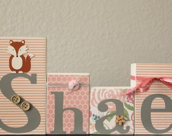 Fox Nursery Peach Fox Baby Shower Decor Woodland Nursery Grey Mint  Peach Nursery Woodland Animals Forest Nursery Forest Animals Baby Shower