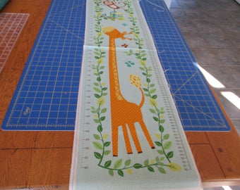 """Quilting Weight Cotton Fabric Giraffe Growth Panel Jungle Friends by Deborah Edwards for Northcott  12"""""""