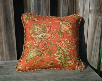 Rusty brown pillow covers