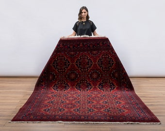 AKELA Fine Afghan Khal Mohammadi, Deep Red