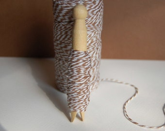 Cappuccino Brown Bakers Twine on a Clothespin-Crafts-Bake Sale-Gift Wrap-Packaging-Cardmaking-Tagmaking-Party Favors-Scrapbook-Ready to Ship
