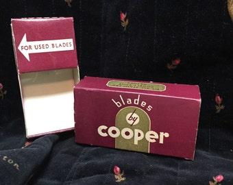 COOPER RAZOR BLADE Box for Single Blade