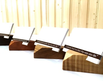 Modern Wood Minimalist Business Card Holders / Modern Wood Business Card Displays / Minimalist Business Card Holders and Desk Accessories