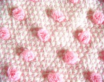 Morgan Jones Pink Mini Pops Vintage Chenille