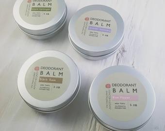 Natural Deodorant Balm, Natural Deodorant, Bath and Body, MULTI PACK of 4, Organic Deodorant, Skin Care,