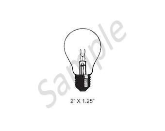 Antique Light Bulb SteamPunk Rubber Stamp 435