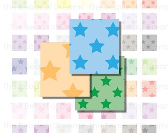 63 star images for scrabble tiles - Digital Collage Sheet - scrabble tile for jewelry  - 0.75 x 0.83 inch - INSTANT DOWNLOAD (cs0131)