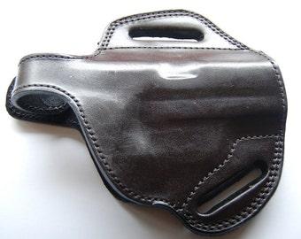 Browning 1911-380 Belt Custom Holster Laether Tan Black