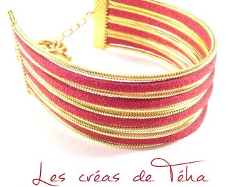 Very pretty red and gold cuff