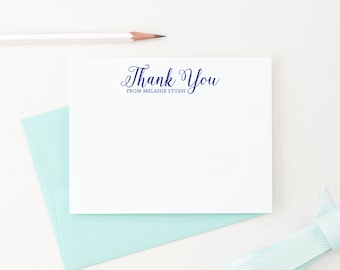 Personalized Stationery Set, Personalized Thank you cards, Personalized note cards, Modern Calligraphy stationery set of 10, PS019