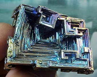 Rainbow Geometric Bismuth Crystal Mineral Specimen Excellent for Instilling Group Cohesiveness 003