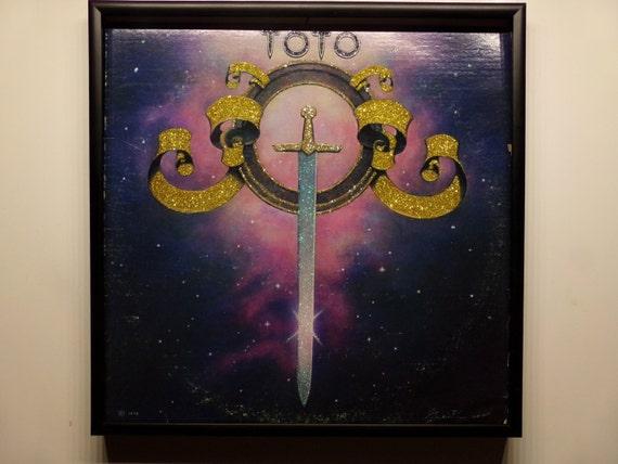 Glittered Record Album - Toto