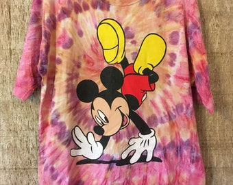 Vintage tie dye Mickey Mouse t-shirt, 90's Mickey Mouse shirt, large, vintage Disney