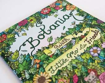 Botania Colouring Book - Detailed nature and animal illustrations, art book for kids and adults