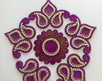 Handmade Kundan Rangoli#Gifting #festive season