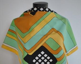 Vintage PRINTED SCARF , retro pattern scarf....(123)