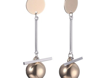 Alloy Fashion Geometric earrings (Golden)