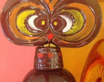 Vintage Pottery Owl Wind Chime Japan
