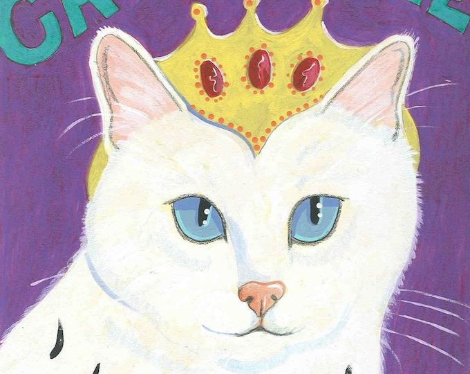 Cats Rule notecard